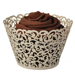 Exports Of Cake Paper Surrounding Edge Hollow Out AAmirror Paper Cups Aluminum Foil Cup Cake Lace Paper Holdr Wedding Wholesale Filigree Vin