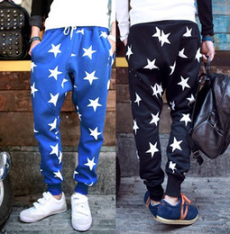 Wholesale-Men's Personality Hip Hop Pants Stylish Harem Pants Star Joggers Unisex Cross-pants Sping Fashion Trousers Brand New