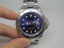 Top quality watch mechanical automatic stainless watches with steel band blue face men wristwatch 082