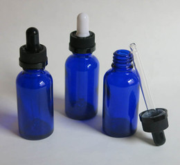 wholesale, 10 pcs 30ml blue glass essential oil bottle with dropper, cosmetic packaging, dropper glass bottle