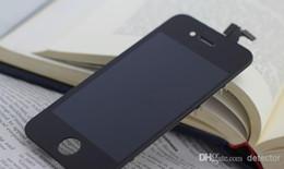 Iphone 4s conjunto completo en Línea-LCD de la alta calidad para el iPhone 4 4s con la pantalla táctil Pantalla completa del LCD del screplacement del iphone 4/4 de la asamblea de la pantalla El color blanco y negro libera DHL