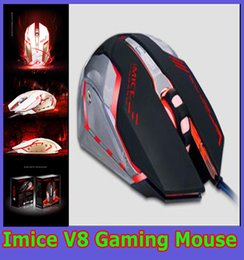 Wholesale Imice Gaming mouse V8 latest e sports macro definition the macro program usb Wired mouse game for PC Laptop with Retail Package