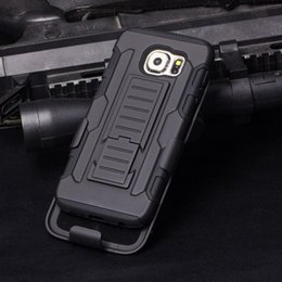 Wholesale Heavy Duty Rugged Defender Holster Hybrid Kickstand Case For Samsung Galaxy S6 Active Avant G386T Grand Prime G530 Cover Shockproof
