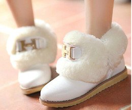 Wholesale Fashion Women s Ankle Boots Thick Warm Fur Lining Winter Boots For Women Casual Dress Cold Winter Outdoor Shoes Warm Cute