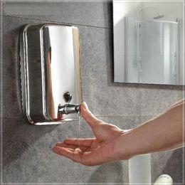 Wholesale mixer antique e_pak Hand Soap Dispenser Bathroom Wall Mounted Hand Liquid Soap Dispenser ml Soap Box steel laundry tub