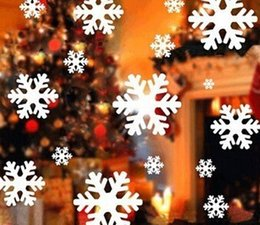 Wholesale sheets of stickers Hotel shopping glass sliding door shop window new year christmas snowflake stickers TY455