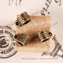 Conectores de mayor pendiente pulseras de DIY accesorios de la vendimia Antiqued del tono del bronce de la aleación del tubo del gancho 8 * 100PCS 5mm desde conector de tubo de pulsera proveedores