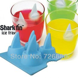 Free Shipping! Shark Fin Shape Silicone Ice Cube Freeze Ice Tray Ice Maker Mold Bar Party Drink Mold 301-0312