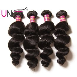 UNice Hair Malaysian Loose Wave 16-26inch Unprocessed 1Piece Hair Bundles Non Remy 100% Human Hair Extensions Natural Color