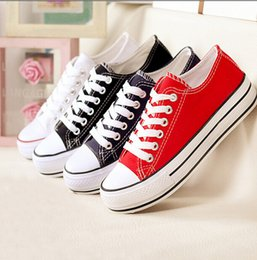 Wholesale 2014 shoes Brand New Unisex Low Style Adult Women s Mens Canvas Shoes Laced Up Casual Shoes Sneaker Colors Drop Shipping Top Quality