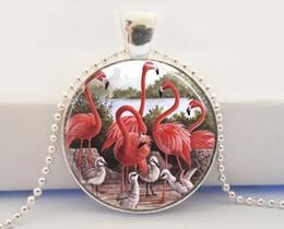 Collar rosado del flamenco Collar tropical del colgante del arte de la naturaleza desde colgantes tropicales fabricantes