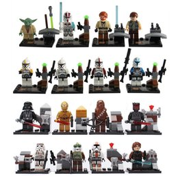 Wholesale 16pcs set Star Wars Clone troopers Super Heroes Minifigures Building Bricks Blocks Sets Education Toys