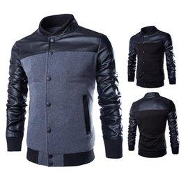 Le commerce de la peau en Ligne-Spot 15 verges commerce extérieur nouvelle hiver veste col mode pour hommes Slim hommes combattre la peau manteau Y100
