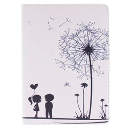 "Flag aeolian bells pattern flip dandelion wallet protective covers leather case for ipad air ipad 5 9.7"" tablet"
