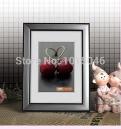 Free Shipping 1X High Quality Silver PVC Photo Frame Live Photo Frame Decoration Box Decoration Picture Frame