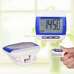 Wholesale 1pcs blue Multi Function Waterproof Digital D Pedometer Step Movement Calorie Counter