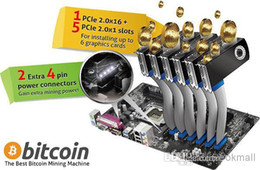 Wholesale the best bitcoin mining machine Asrock H81 Pro BTC motherboard with xPCI E slots and extra pin power connectors