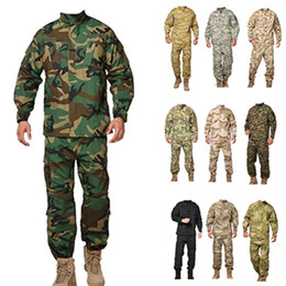Wholesale Army military tactical jacket sets cargo pants uniform waterproof camouflage tactical military bdu combat uniform us army men clothing