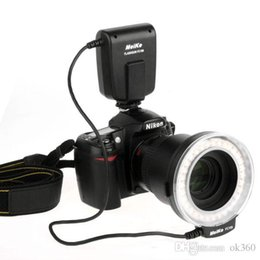Wholesale NEW Meike FC FC100 Manual LED Macro Ring Flash Light with Adapter Ring for Canon Nikon Olympus Pentax Digital DSLR Camera