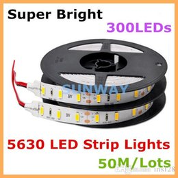 Super bright SMD 5630 LED strip lights flexible lighting strips 300 LEDs 5M 110LM W lights 5730 60 LEDs M LED lights