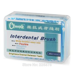 Wholesale Oral Care Push Pull Interdental Brush Orthodontic Wire Toothbrush Imported Caliber MM box With