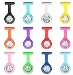Wholesale DDA3626 New Silicone Colorful Medical Nurse Watch Cute Patterns Fob Quartz Watch Doctor Watch pocket Watches