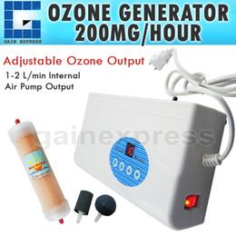Wholesale OZ Digital Ozone Generator Air Quality Purifier O3 Clean Sterilization Air Dryer mG H Food Preparation Water