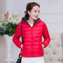 New 2015 Winter Two Side Women 90% White Duck Down Jacket Women's Hooded Ultra Light Down Jackets Warm Winter Coat Parkas