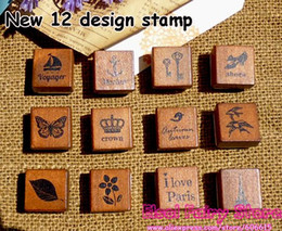 (2pcs box,24pcs lot) Vintage Stamp, Deco Wood Stamp , Match Box Gift Rubber wood Stamp Free shipping