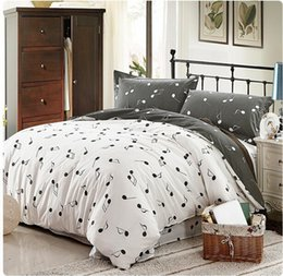 Wholesale Cotton Modern Pink Grey Music Note Bedding Bed Linen Comforter Sets Twin Full Queen King size