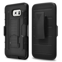Samsung Galaxy S6 Future Armor Impact Hybrid Hard Case Cover + Belt Clip Holster Kickstand Combo For Samsung S6 G9200