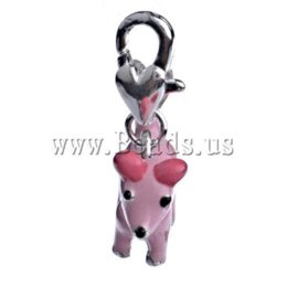 Free Shipping 10pcs lot enamel charm dog shape Fit link bracelet charm link bracelet charms fit pandora bracelets