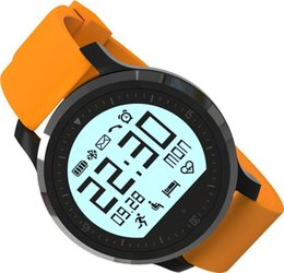Wholesale F68 Bluetooth smartwatch with measured heart rate pedometer sport watches waterproof solar Silica gel Strap Wearable