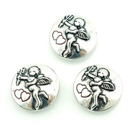 Fashion 18mm Snap Buttons Retro Angel Metal Chunk Clasps DIY Noosa Bracelets Interchangeable Chunk Jewelry Accessories