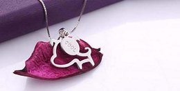 Wholesale S925 k white gold plated lovely baby dog pendant necklace new fashion jewelry by epacket