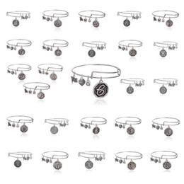 Wholesale 26 letter Alex and Ani adjustable Charm statement bracelets gold silver Wiring expandable pendant bangles band cuffs Christmas gift
