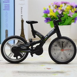 Wholesale 2016 New Year Christmas gift Cool Fashion Home Decoration Creative Art Bike Shape Clock Children Kids Bicycle Alarm Clock H019