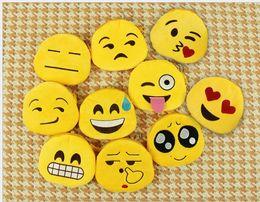 20 pcs Cute Cartoon Emoji Wallets Coin Purses Kids Gifts Fashion Women Children Mini Bags with Zipper Emoji Key Chains Pendants EMJ014