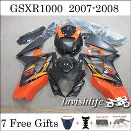 Wholesale For Suzuki GSXR1000 GSXR GSXR GSX R1000 Fairing Kit Gifts Fresh Orange Black ABS Cowling Bodywork Gifts
