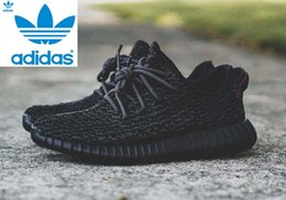 Wholesale ADIDAS Originals X Kanye West YEEZY Men Women Boost low authentic Black High quality designer Sneaker Shoes With Box