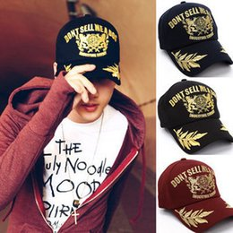 Wholesale Best Sales gold embroidery baseball cap for men Wheat sticks ears couple women snapback sun hats gold caps Freeshipping