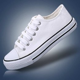 Wholesale sapato feminino zapatillas hombre deportivas Zapato de lona lady canvas schuh shoe white women van shoes black sport lace up