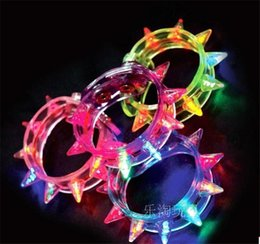 100pcs lot Party Glowing Bracelet LED Lights Flash Wrist Multicolor Light Up Hand Ring with Battery for Night Party Toy Supplies