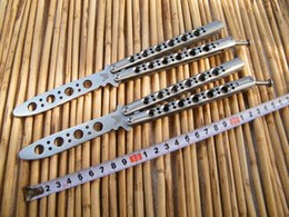 Wholesale Benchmade Trainer BM40 Butterfly Balisong knife practice balisong butterfly Trainer Die cast stainless steel handle with nylon sheath