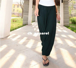 Spring Summer Wrap Waist Pants   Lounge Pants   Traval Pants   Pilates Cotton Spandex Women Sport Pants