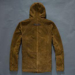 Wholesale 2016 Man leather outwear USA AVIREX FLIGHT GARMRNT SPECIFICATION HIGH FLIGHT military men s Leather Motorcycle Jacket