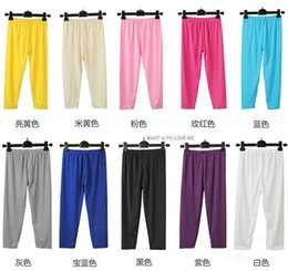Wholesale-Ms. summer color thin section of ice silk pant new large size candy colored leggings