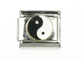 9mm classic Chinese Yin Yang Bagua Italian charm bracelet stainless steel modular charms link fits Nomination