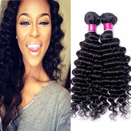 3Bundles Brazilian Deep Curly Virgin Brazilian Peruvian Malaysian Indian Deep Wave Human Hair Weave Cheap Deep Curly Remy Hair Extensions