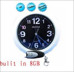 Free shipping Wall Clock Pinhole Camera with Remote Control Mini Clock Camcorder 8GB wall clock camera